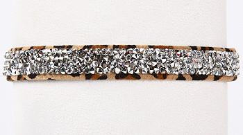 Cheetah Crystal Rocks Dog Collars by Susan Lanci