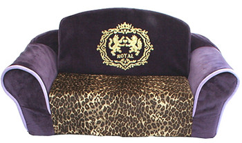 Purple Pull Out Dog Sleeper Sofa - Leopard by Pet Flys