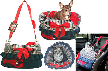 Denim & Stripes Lobster Reversible Dog Snuggle Bug by Pet Fly\'s