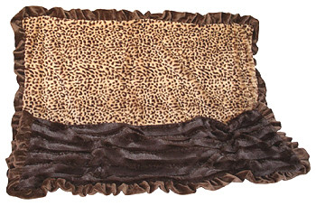 Sleepy Time Cuddle Dog Blanket - Cheetah (Baby) - 2 Sizes