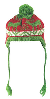 Winter Moose Red Dog Hat