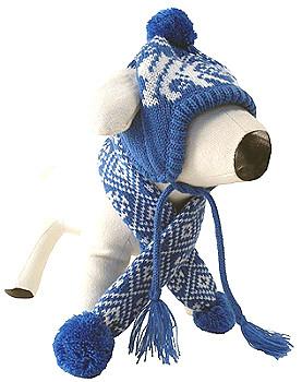 Winter Polar Bear Dog Neck Scarf
