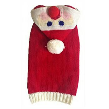 Cute Santa Hoodie Dog Sweater