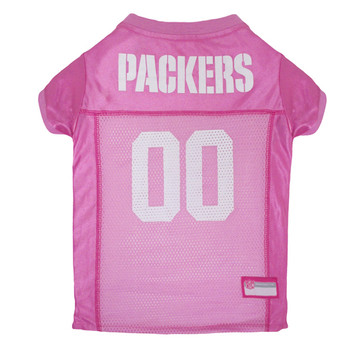 Green Bay Packers Pink Pet Dog Jersey