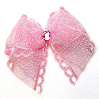 Dog Bows - Pink Annie Bow Barrettes