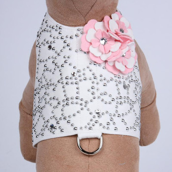 Special Occasion Bailey II White w/ Pink Dog Harness by Susan Lanci