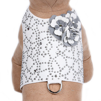 Special Occasion Bailey II White & Platinum Dog Harness by Susan Lanci