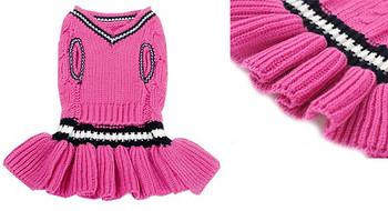 School Girl Dog Sweater Dress