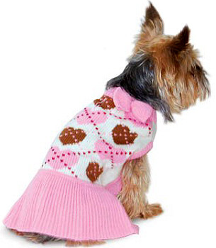Preppy Heart Dog Sweater Dress