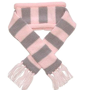 Urban Pink Stripe Dog Scarf