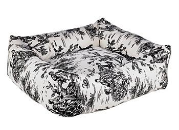 Onyx Black Toile Microvelvet Dutchie Bed