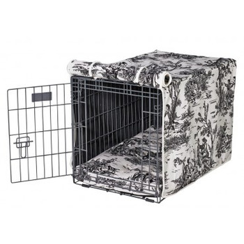 Onyx Toile Luxury Dog Crate Cover