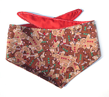 Christmas Dog Bandana - Happy Gingerbread Men