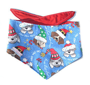 Christmas Dog Bandana - Christmas Hat Pups