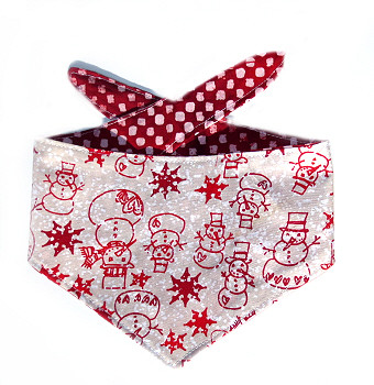 Christmas Dog Bandana - Red Snowmen