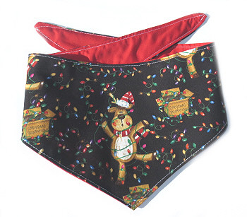 Christmas Dog Bandana - Tangled Reindeer