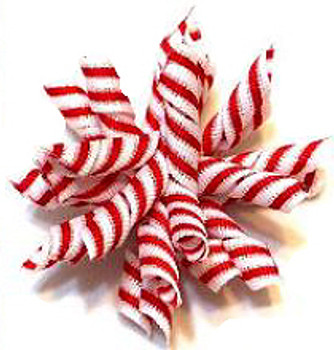 Christmas Candy Cane Stripe Whirlie Pet Dog Barrette