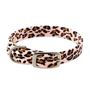Pink Cheetah Crystal Paws Dog Collars