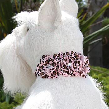 Pink Cheetah Tinkies Garden Dog Collars