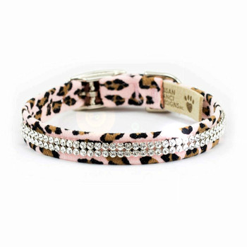 Pink Cheetah Giltmore 2 Row Dog Collars