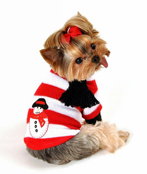 Snowman Turtleneck Dog Sweater By Hip Doggie