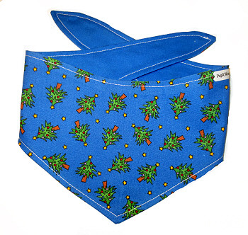 Christmas Dog Bandana - Blue Christmas Trees