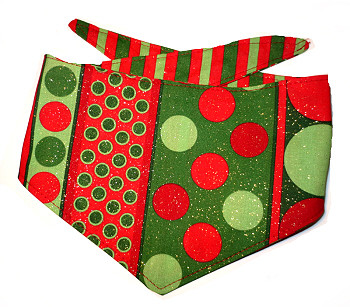 Christmas Dog Bandana - Mod Christmas Red & Green