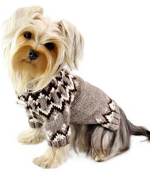 Icelandic Patterned Dog Sweater