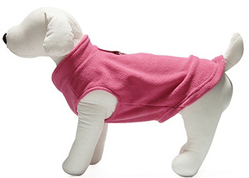 Dog Pullover Fleece Vest - Pink