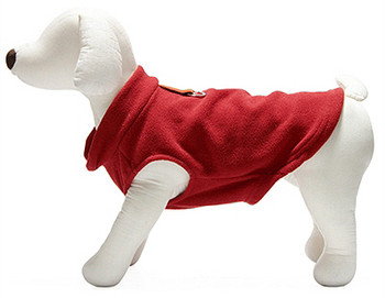 Dog Pullover Fleece Vest - Red