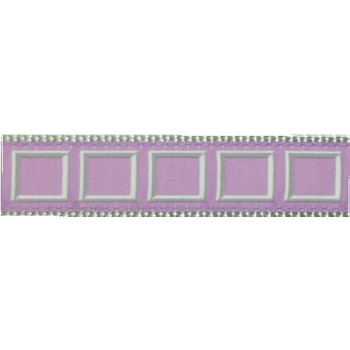 Lilac Frames Dog Collars - 3/4 & 1 1/4