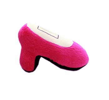Bark Jacobs Hot Pink High Heel Shoe Dog Toy