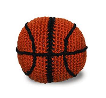Basketball PAWer Squeaker Dog Toy