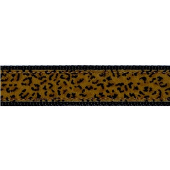 Dog Collar - Leopard Print - Soft to the Touch - 1 1/4