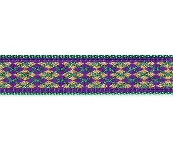 Dog Collar - Mardi Gras 1/2, 3/4 & 1 1/4