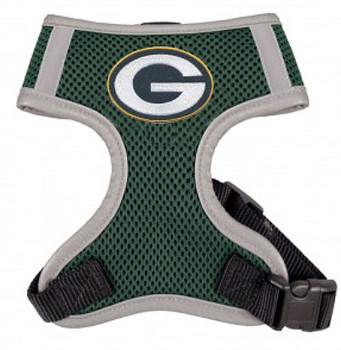 NFL Greenbay Packers Dog Mesh Harness - Big Dog Sizes Too!