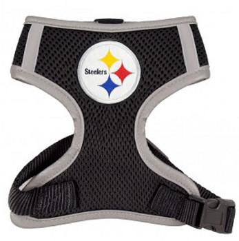 NFL Pittsburgh Steelers Dog Mesh Harness - Big Dog Sizes Too!