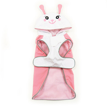 Cute Pink Bunny Dog Raincoat