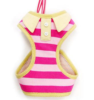 EasyGO Pink Polo Dog Harness