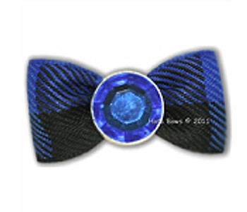 Dog Bow Barrette  - Crystal Blue