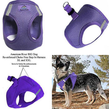 American River Choke Free Step In Dog Harness - Purple - 1 - 50 lbs