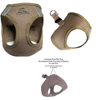 American River Choke Free Step In Dog Harness - Beige - 1 - 50 lbs