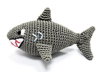 Shark PAWer Squeaker Dog Toy