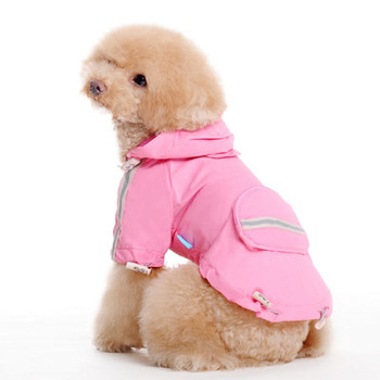 Pink Pocket Dog Raincoat - XS - 2XL
