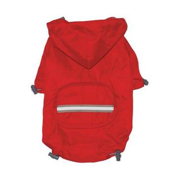 Pouch Pocket Doggie Raincoat v2 - Red
