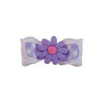 Lilac Sunshine Sunflower Barrette by Ruff Ruff Couture