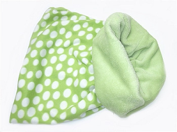Snuggler Pet Dog Bed 3 'n 1 - Lime Green Polka Dot