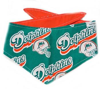 Miami Dolphins NFL Dog Bandanas - Turquoise