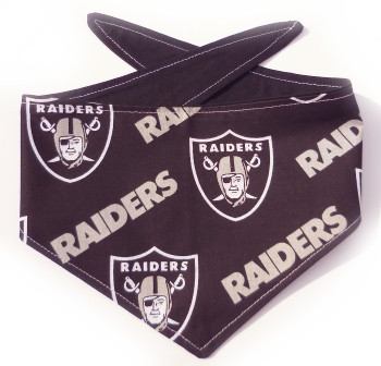 Oakland Raiders NFL Dog Bandanas - Black