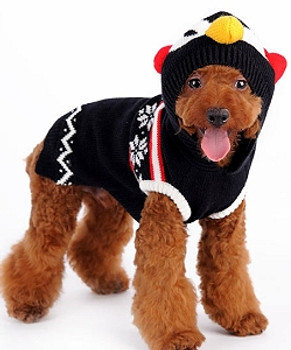 Penguin Dog Sweater